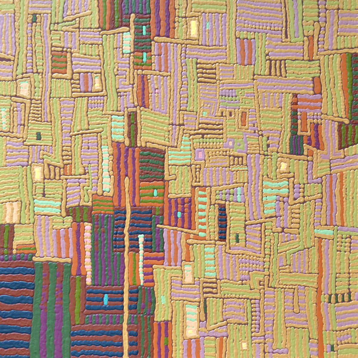 Raybur by David Harrison 48 x48 Acrylic on Canvas